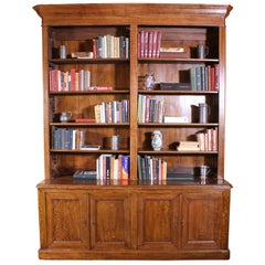 French 19th Century Open Bookcase in Oak