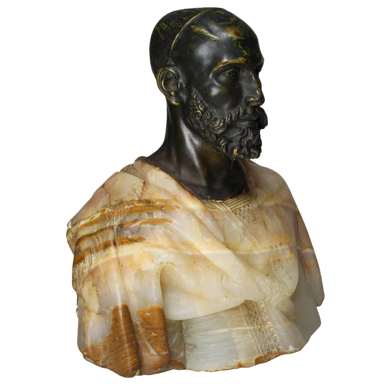 "19th Century Orientalist Bronze Bust ""Arabe D'el Aghouat"" Attributed Cordier"