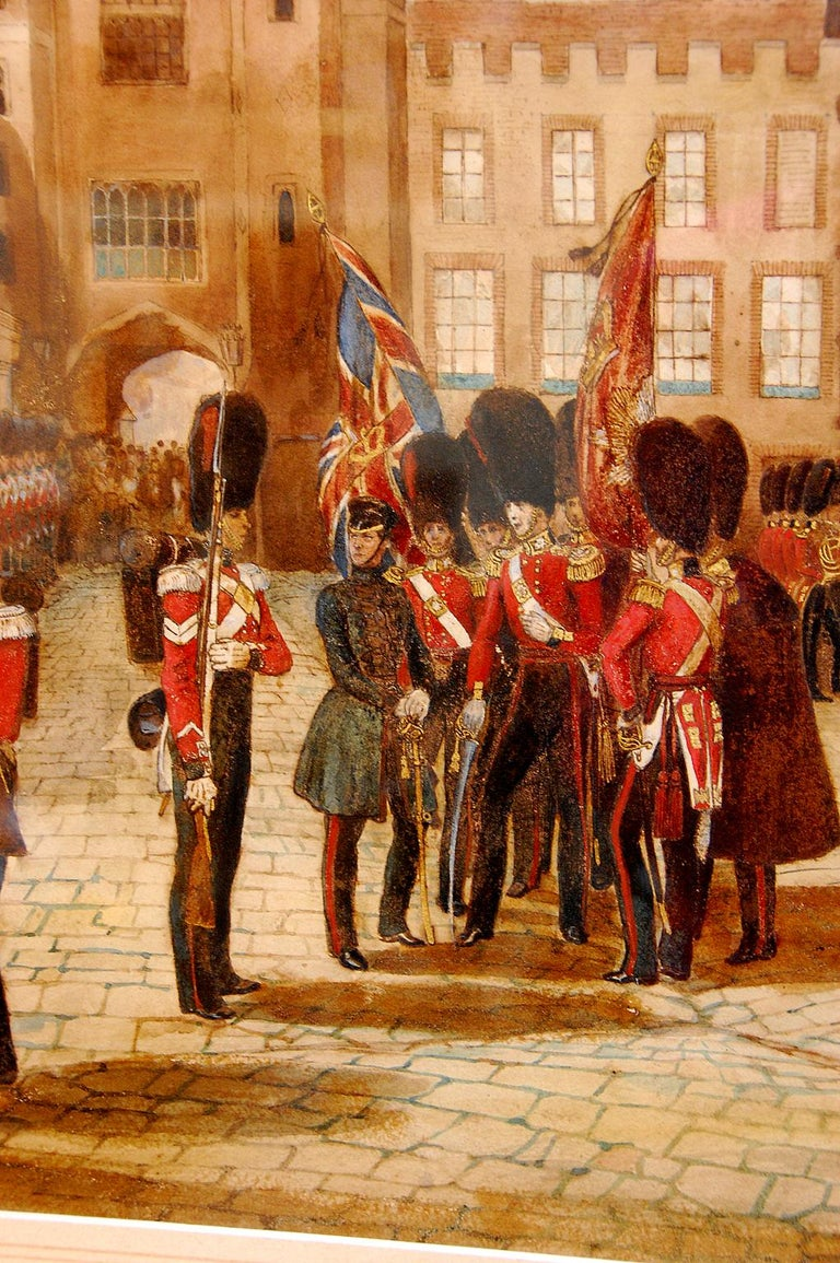 Campaign French 19th Century Original Military Watercolor by Frederick Goupil Fesquet For Sale