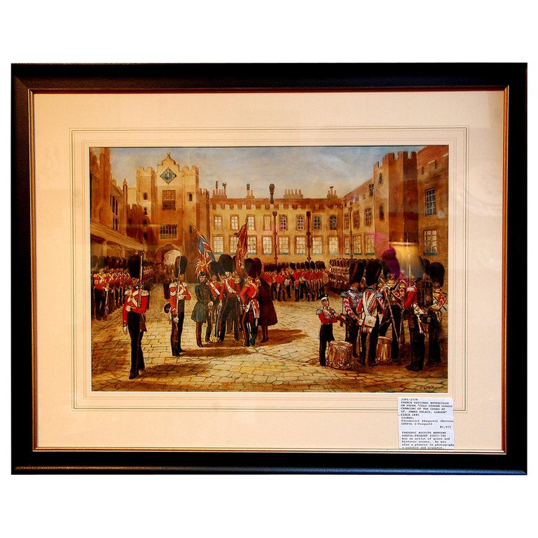 French 19th Century Original Military Watercolor by Frederick Goupil Fesquet For Sale