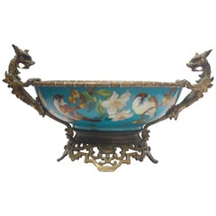 French 19th Century Ormolu-Mounted and Porcelain Centerpiece and Vide-Poches