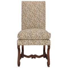 French 19th Century 'Os De Mouton' Walnut Chair
