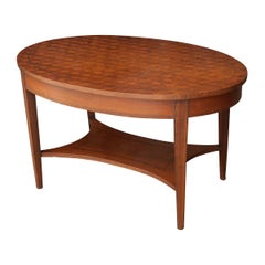 French 19th Century Oval Inlay Coffee Table