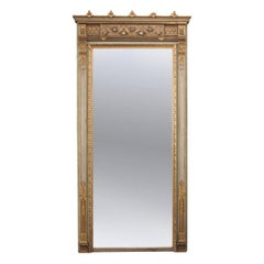 French 19th Century Painted and Gilt Pier Mirror