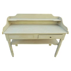 French 19th Century Painted Server or Vanity with Two Drawers and Two Shelves