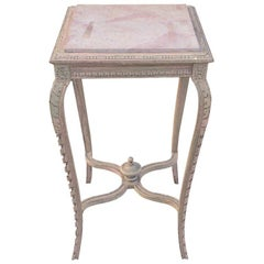 French 19th Century Painted Wine or Lamp Table