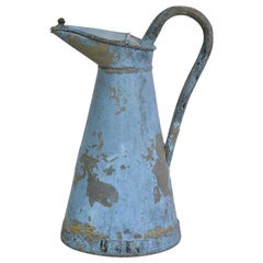 French 19th Century painted Zinc Ewer or Jug