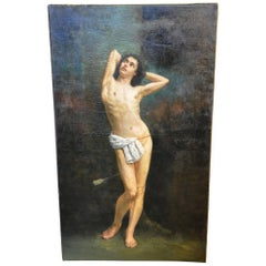 French 19th Century Painting of Saint Sebastian