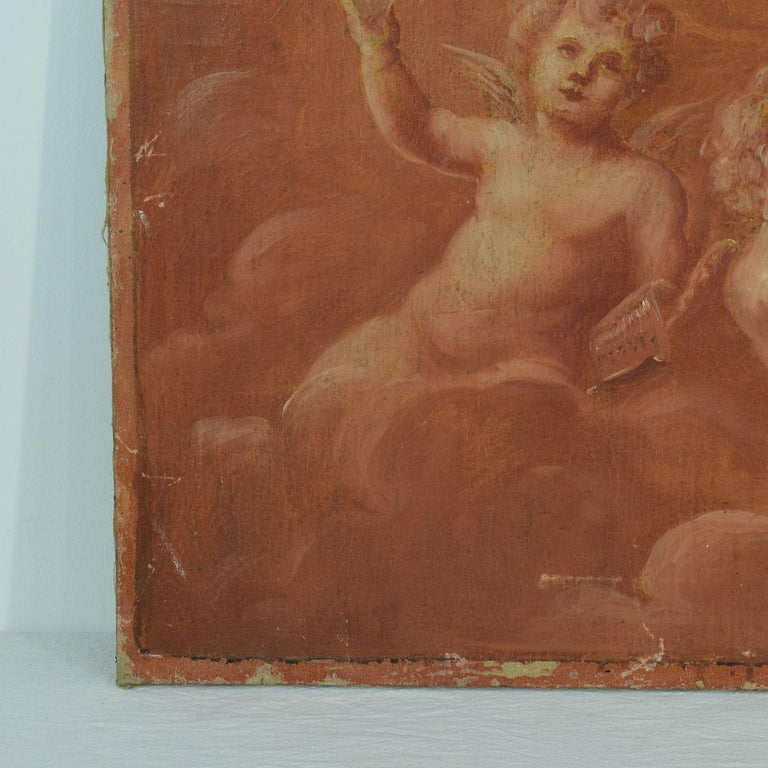 French 19th Century Painting with Cherubs / Angels 1