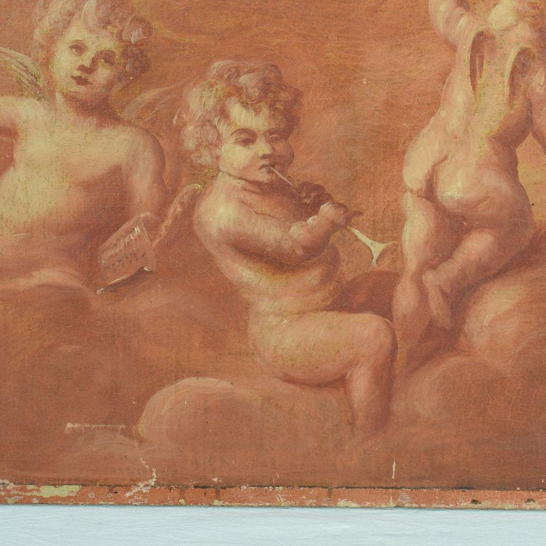 French 19th Century Painting with Cherubs / Angels 2