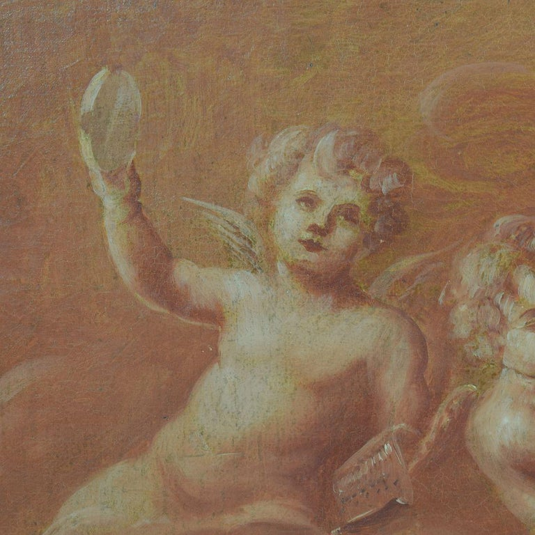 French 19th Century Painting with Cherubs / Angels 4