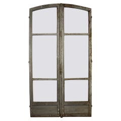 French 19th Century Pair of Painted Doors