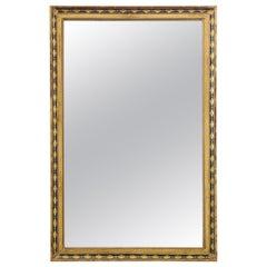 French 19th Century Parcel-Gilt Empire Mirror