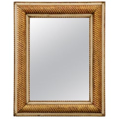 French 19th Century Parcel-Giltwood Mirror