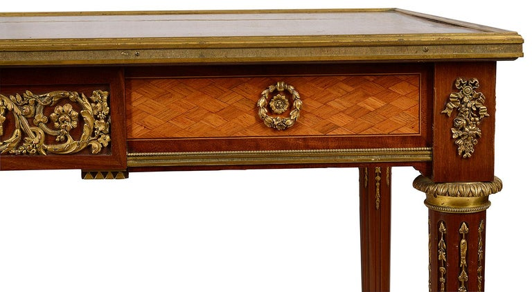 French 19th Century Parquetry Inlaid Table, in the Style of Linke For Sale 1