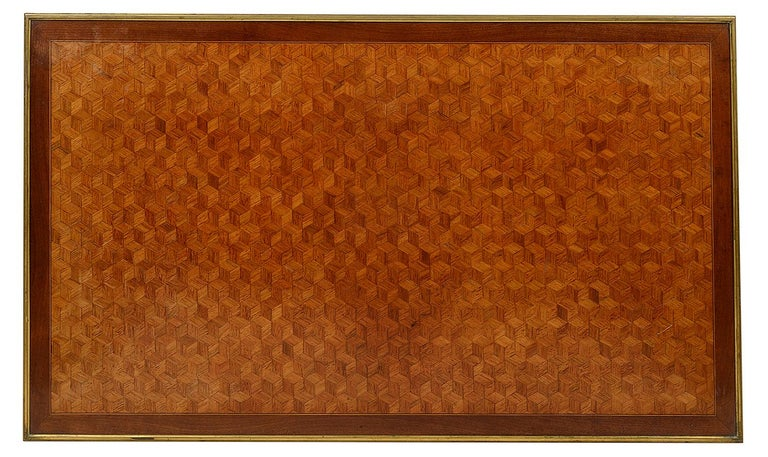 French 19th Century Parquetry Inlaid Table, in the Style of Linke For Sale 2