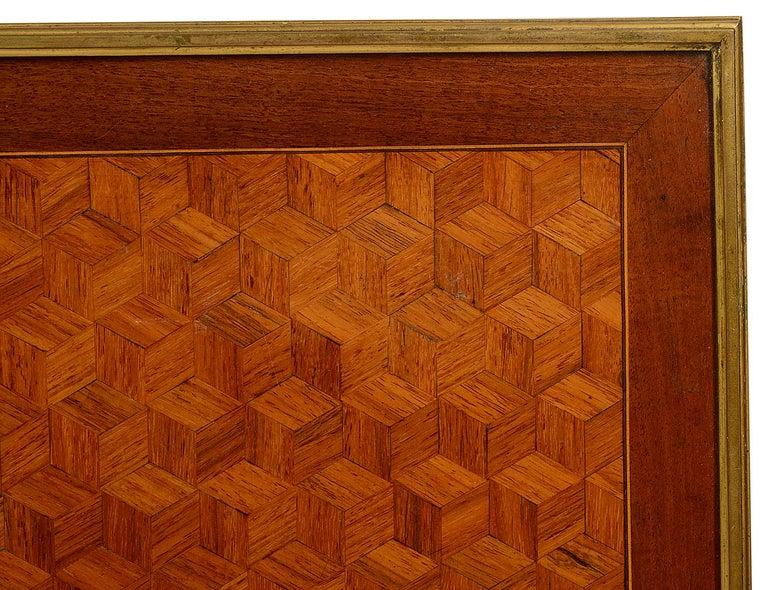 French 19th Century Parquetry Inlaid Table, in the Style of Linke For Sale 3