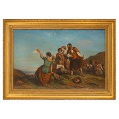French 19th Century Pastel, Signed E. Tourneux 1855
