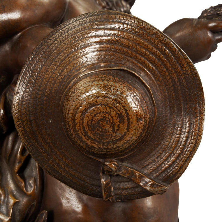 French 19th Century Patinated Bronze Entitled 'Chemin Des Roses' by August Morea For Sale 8