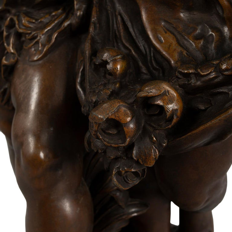 French 19th Century Patinated Bronze Entitled 'Chemin Des Roses' by August Morea For Sale 2