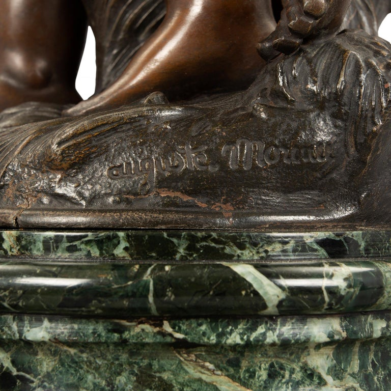 French 19th Century Patinated Bronze Entitled 'Chemin Des Roses' by August Morea For Sale 4