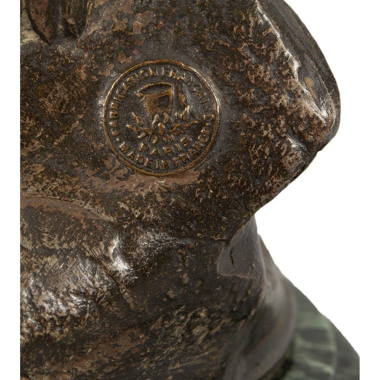 French 19th Century Patinated Bronze Entitled 'Chemin Des Roses' by August Morea For Sale 6