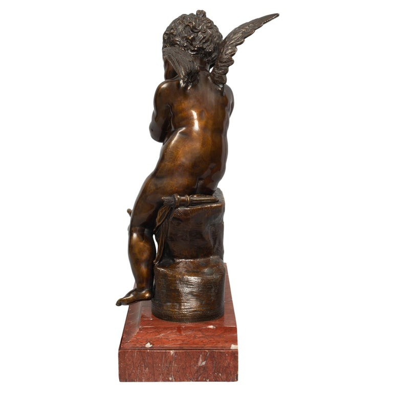 French 19th Century Patinated Bronze Statue, after Charles Gabriel Lemire For Sale 1