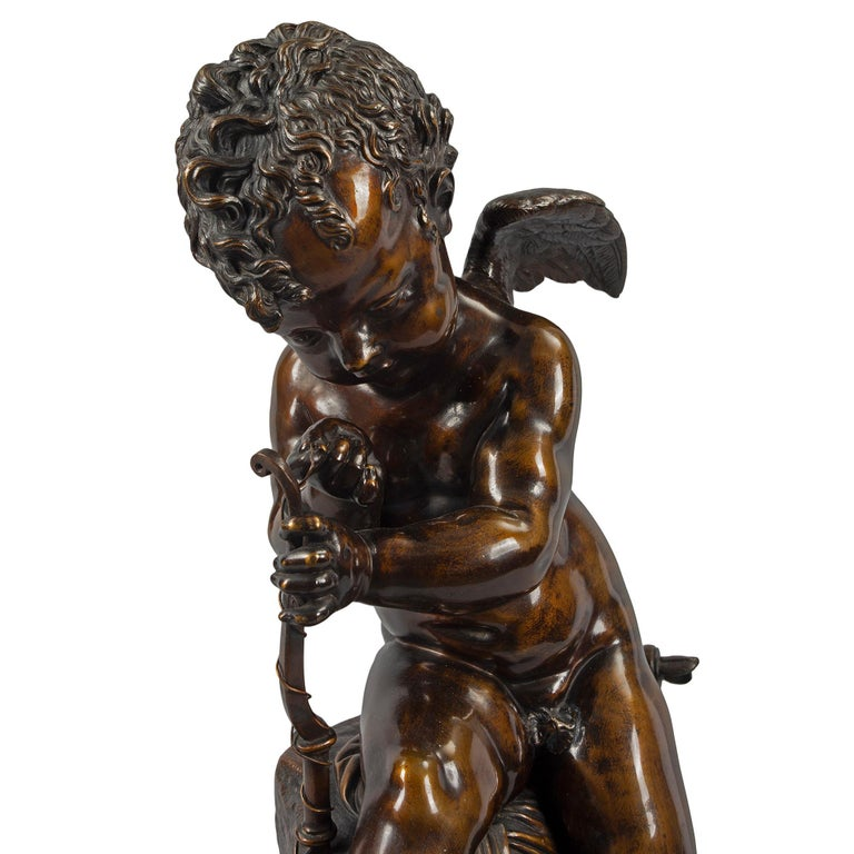 French 19th Century Patinated Bronze Statue, after Charles Gabriel Lemire For Sale 2