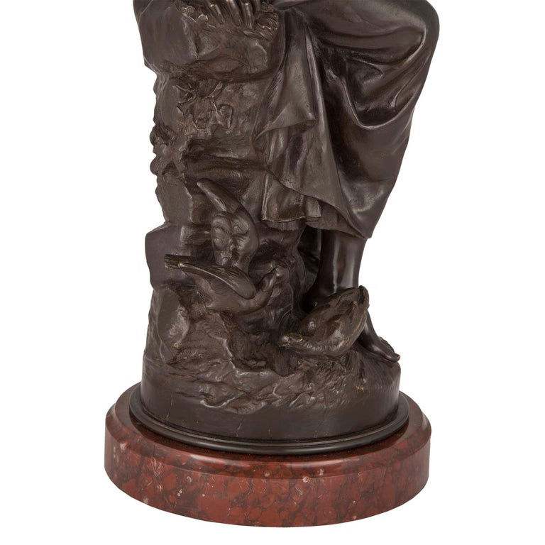 French 19th Century Patinated Bronze Statue For Sale 2