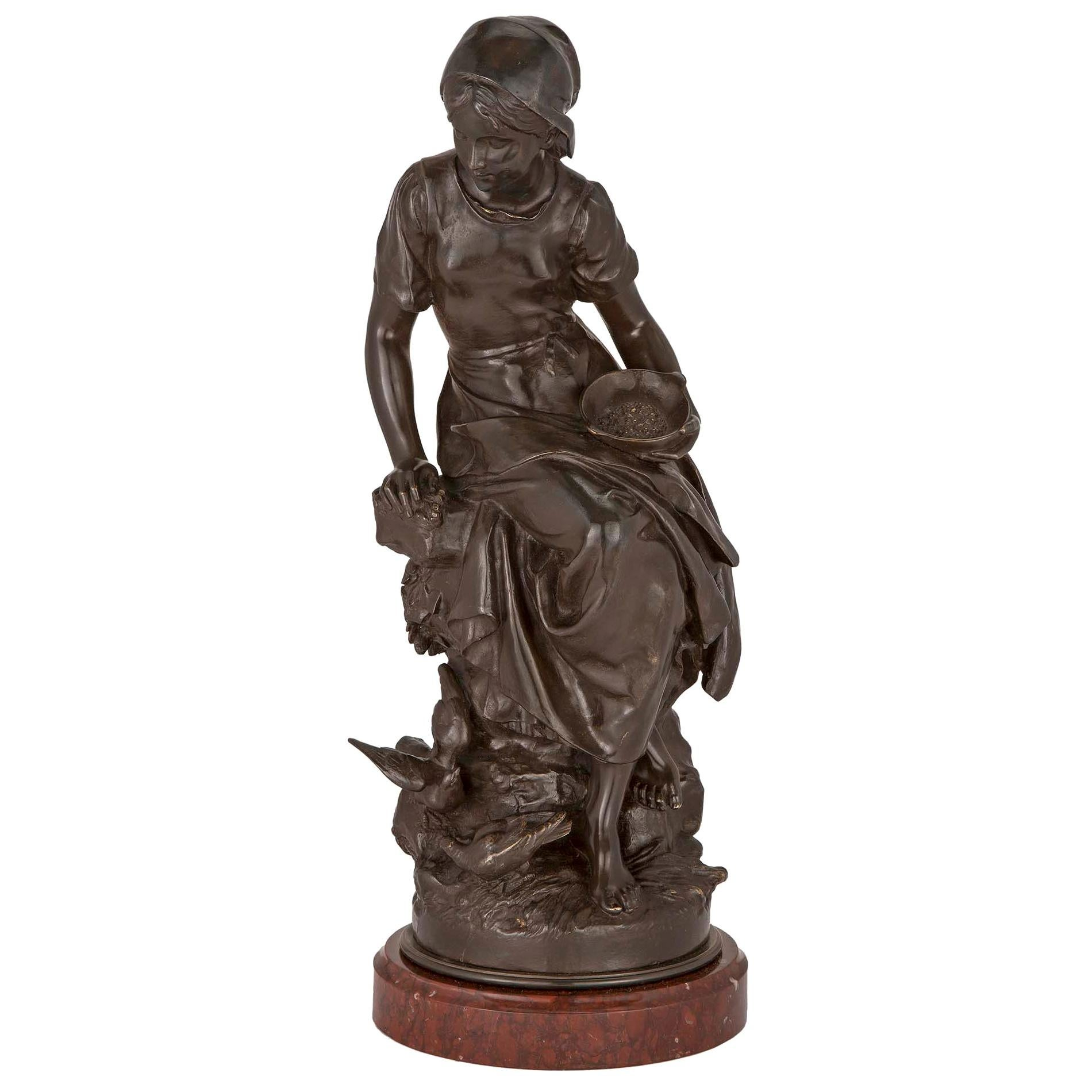 French 19th Century Patinated Bronze Statue