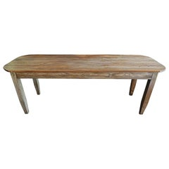 French 19th Century Pine Country Farmhouse Table.