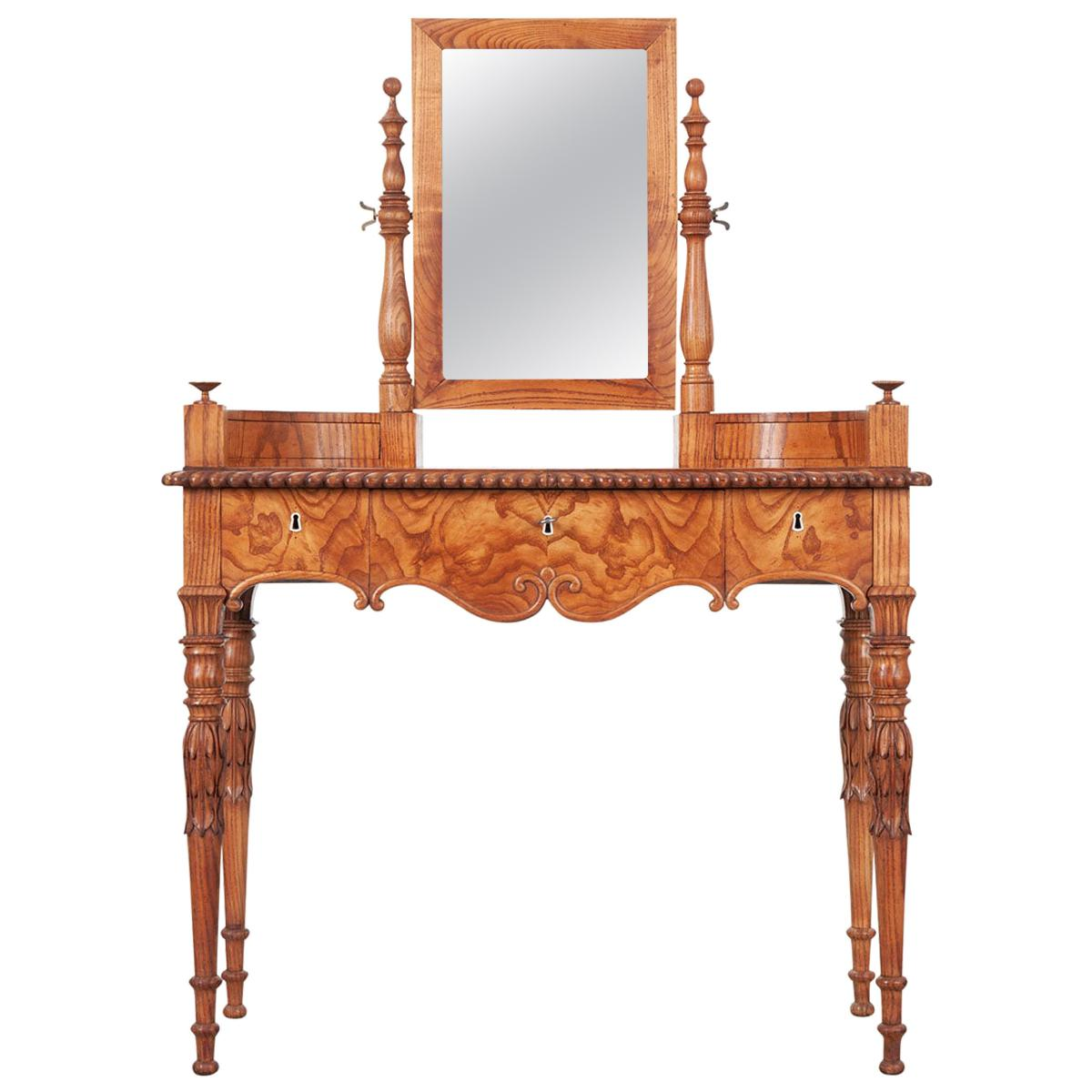 French 19th Century Pine Dressing Table