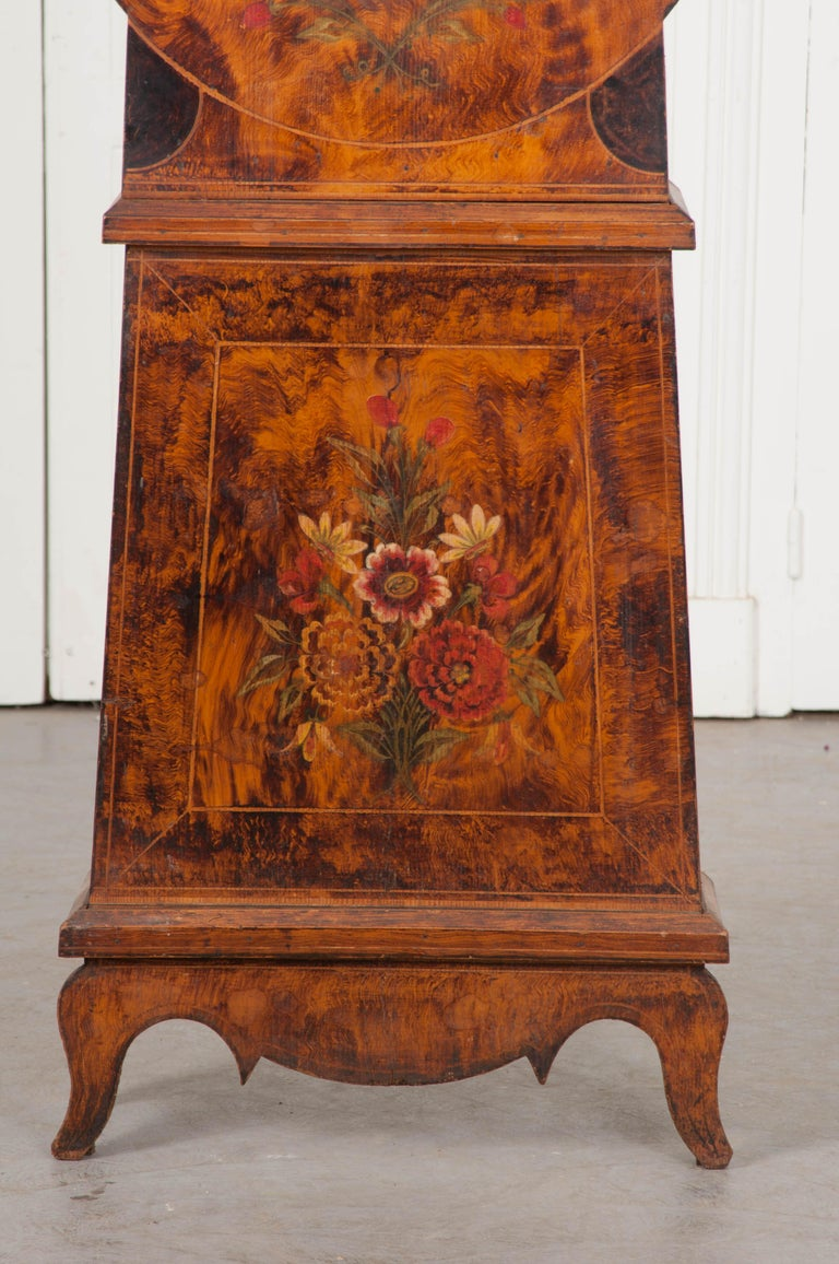 French 19th Century Pine Tall Case Clock For Sale 5