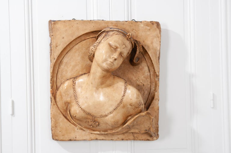 French 19th Century Plaster Copy of Lady from the Louvre In Good Condition For Sale In Baton Rouge, LA