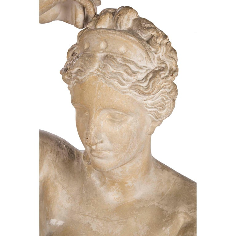 French 19th Century Plaster Neoclassical Style Statue of a Maiden For Sale 2
