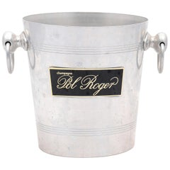 French 19th Century Pol Roger Champagne Bucket with Black and Gold Label