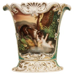 French 19th Century Porcelain Hand Painted Vase