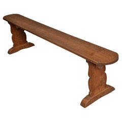 French 19th Century Provincial Oak Bench