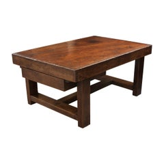 French 19th Century Provincial Oak Low Table