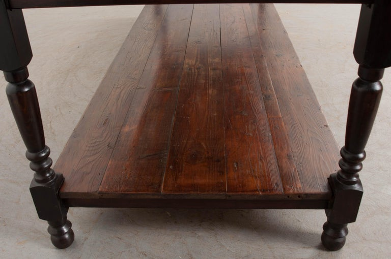 French 19th Century Provincial Walnut Drapery Table For Sale 1