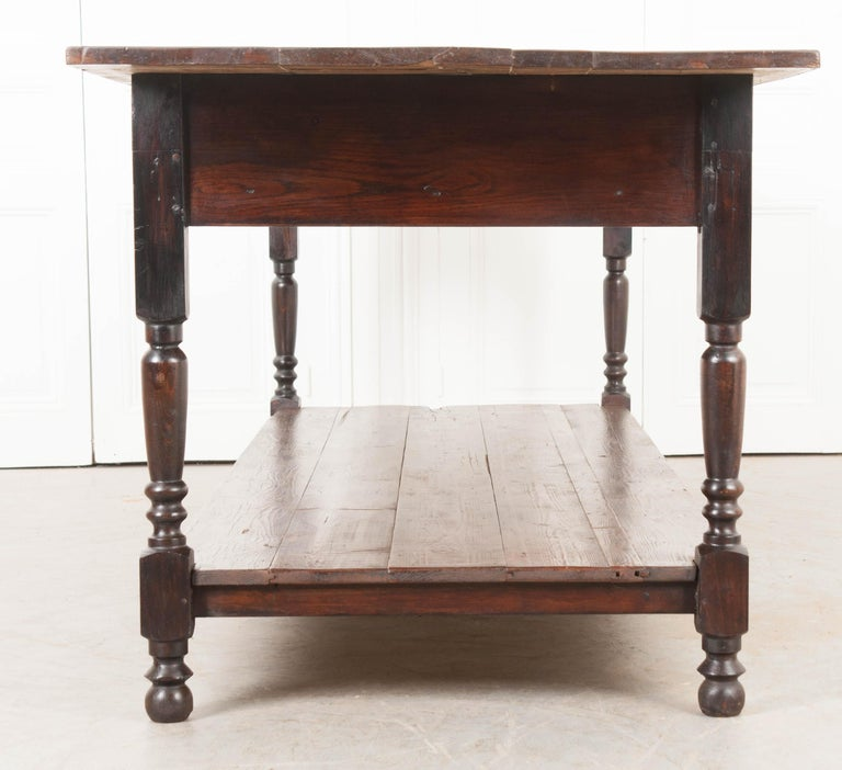 French 19th Century Provincial Walnut Drapery Table For Sale 3