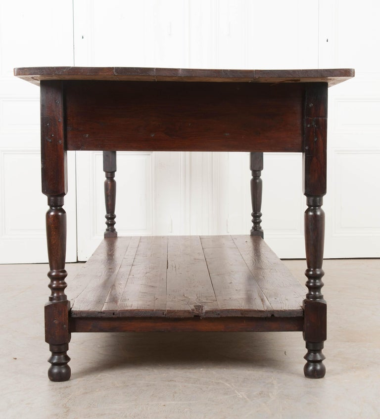 French 19th Century Provincial Walnut Drapery Table For Sale 4