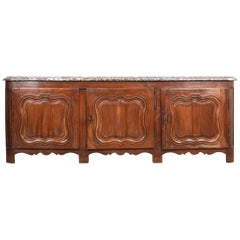 French 19th Century Provincial Walnut Enfilade