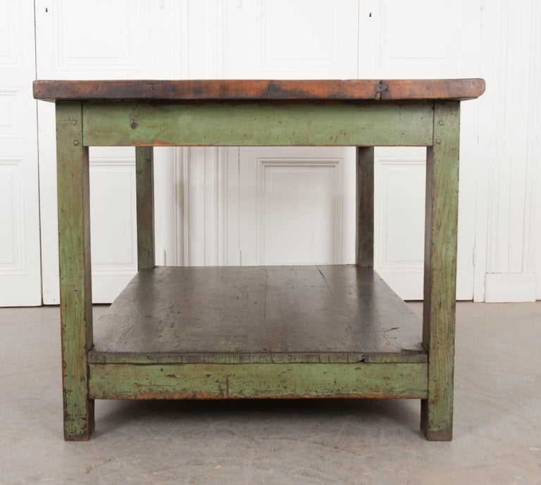 French 19th Century Provincial Walnut Work Table For Sale 7