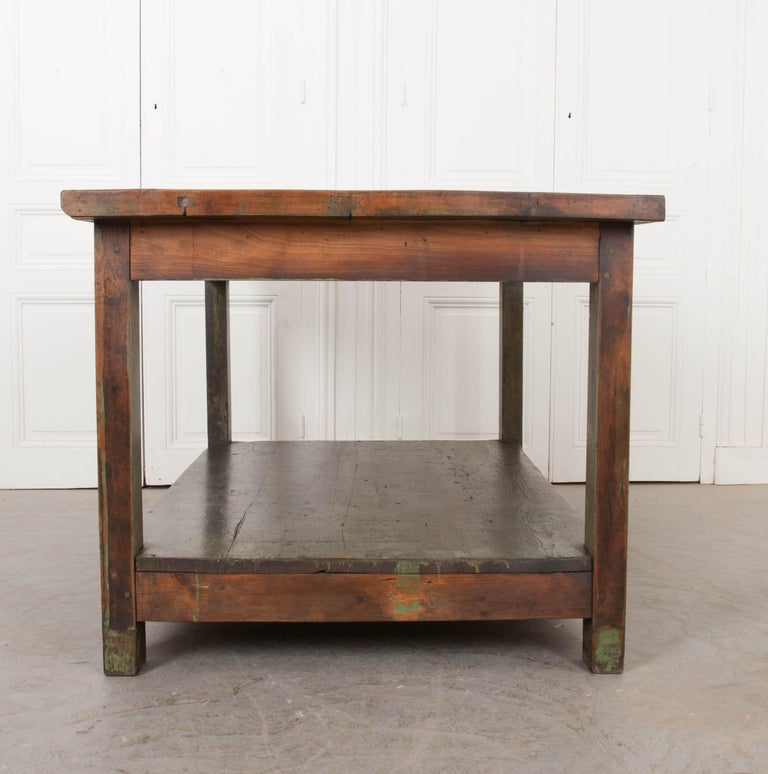 French 19th Century Provincial Walnut Work Table For Sale 8