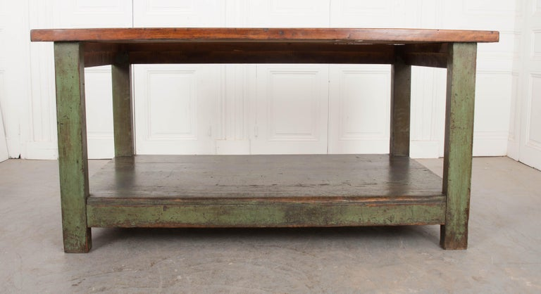 French 19th Century Provincial Walnut Work Table For Sale 9