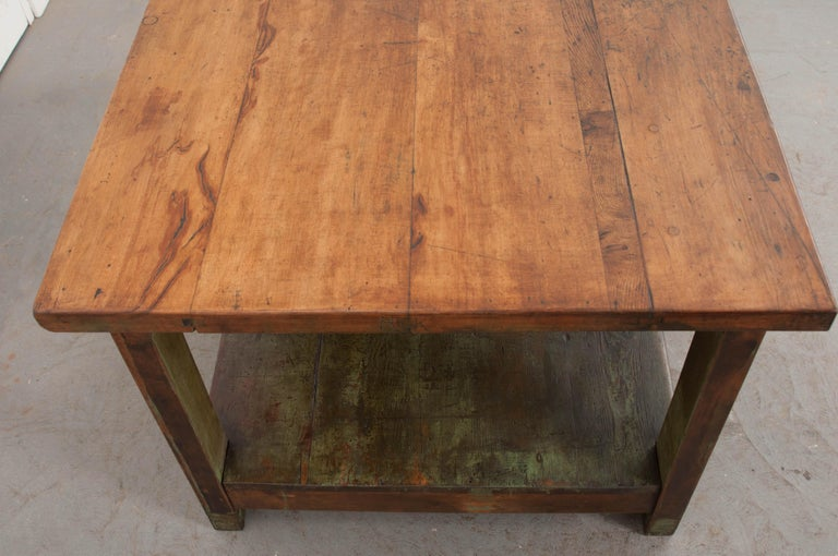 French Provincial French 19th Century Provincial Walnut Work Table For Sale
