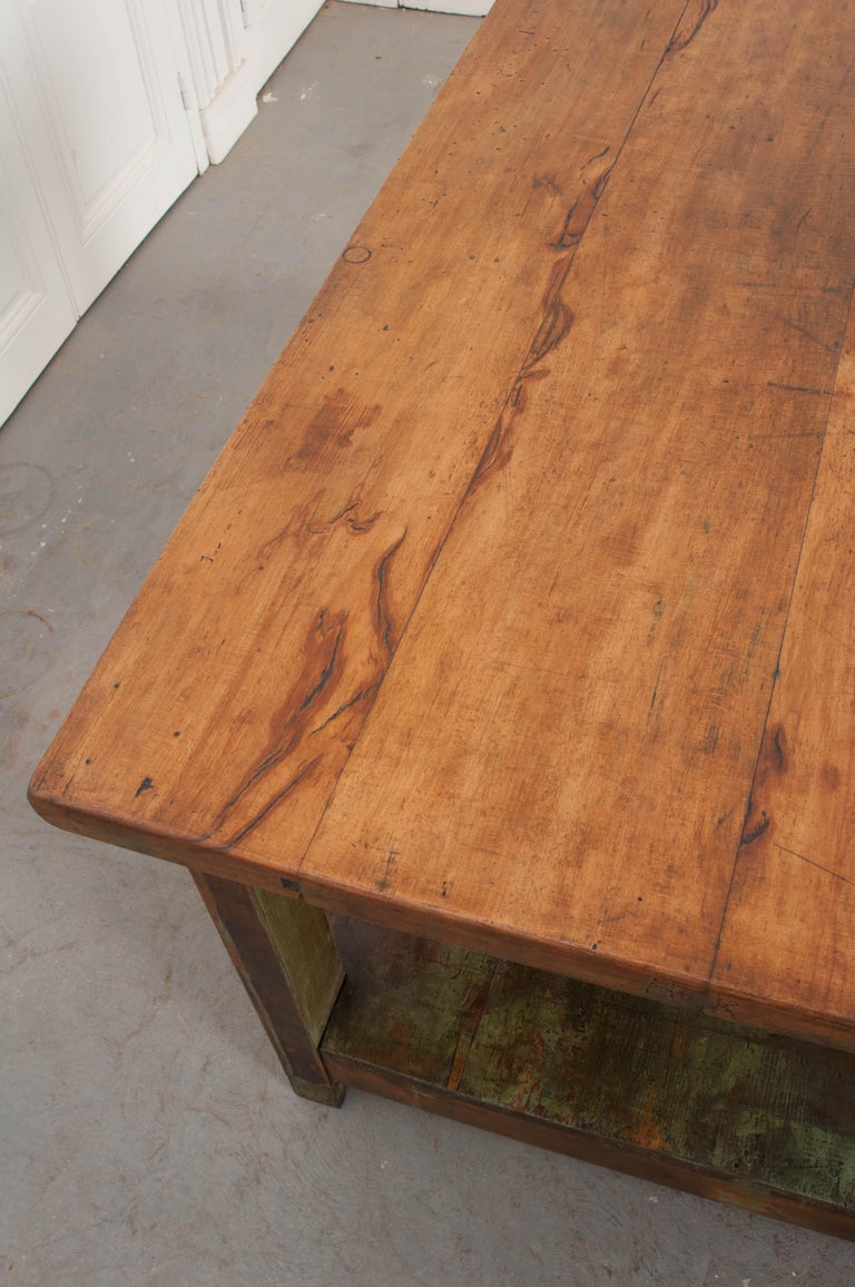 Mid-19th Century French 19th Century Provincial Walnut Work Table For Sale