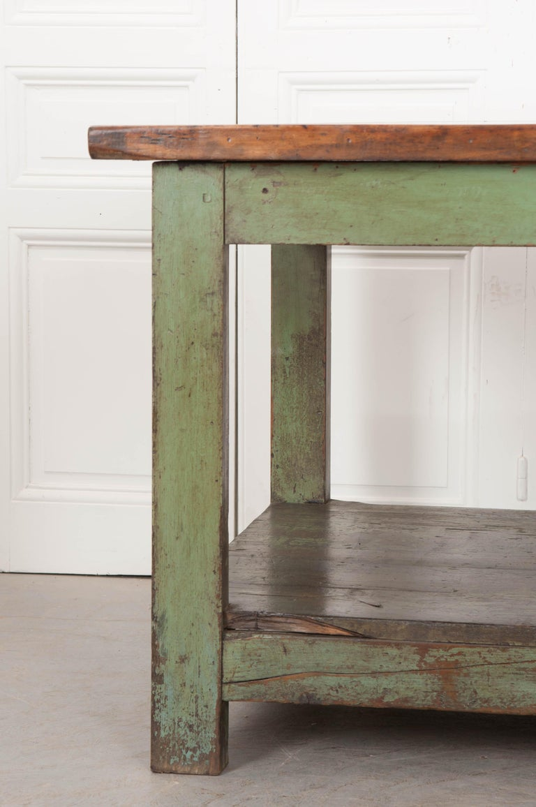 French 19th Century Provincial Walnut Work Table For Sale 2