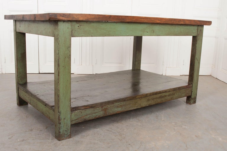 French 19th Century Provincial Walnut Work Table For Sale 3